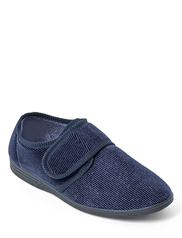 Mens Touch Fasten Wide Fit Washable Slipper – Zak