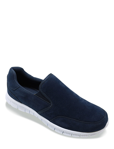 Cushion Walk Wide Fit Slip On Trainers With Memory Foam