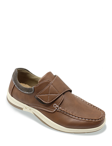 Dr Keller Mens Wide Fit Touch Fasten Boat Shoe