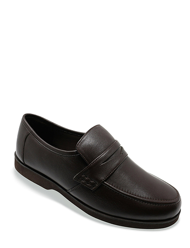 Leather Wide Fit Moccasin Shoe