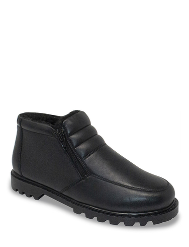 Leather Thermal Lined Twin Zip Boot Standard Fit