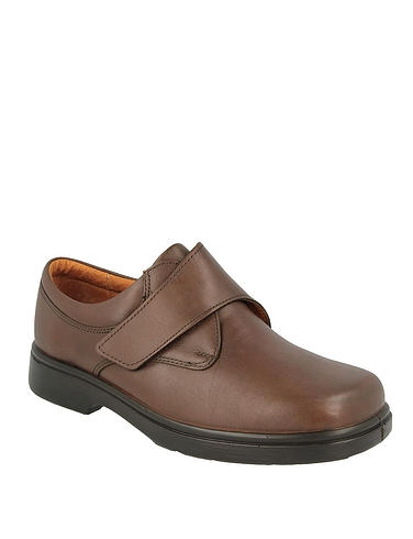 Mens DB Shoes Reece Leather Touch Fasten Extra Wide 4E