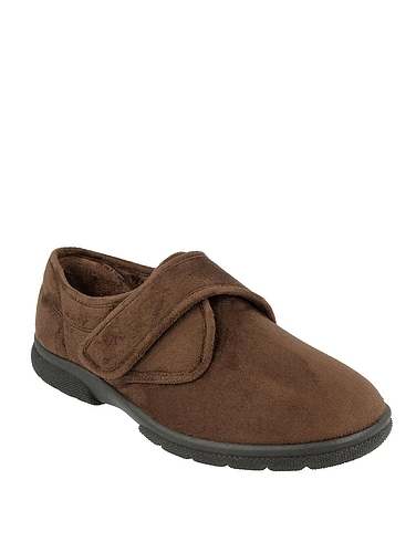 Mens DB Shoes Daniel Touch Fasten Ultra Wide 6E-8E Slipper