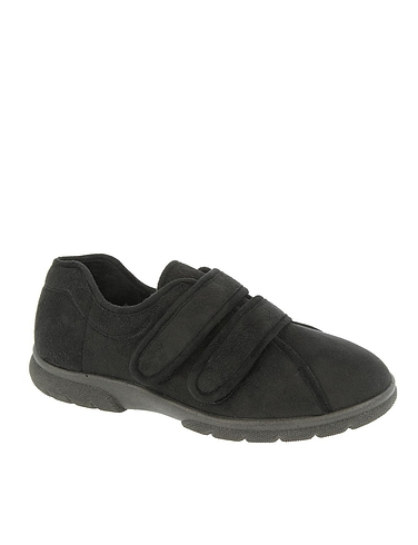 Mens DB Shoes Joseph Touch Fasten Extra Wide EE-4E Slipper