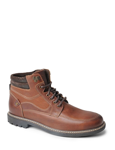 Mens Luxury Leather Lace Boot