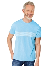 Cotton T-Shirt With Chest Stripe