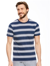 S/S Stripe T-Shirt With Pocket