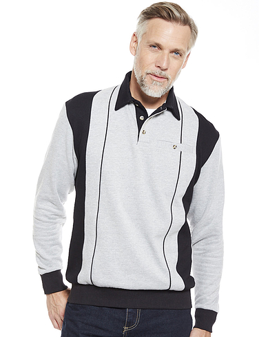 Mens Polo Collar Sweatshirt