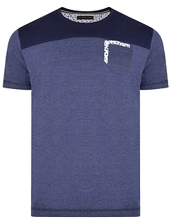 Crew Neck Cut & Sew Tshirt With Chest Pocket