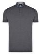 Polo Shirt With Geo Print Button Down Collar
