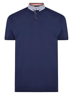Pique Polo With Contrast Button Down Collar