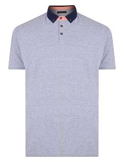 Short Sleeve Pique Polo Contrast Collar