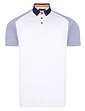 Contrast Raglan Pique Polo With Button Collar