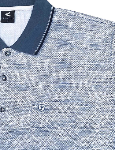 All Over Print Polo With Pocket