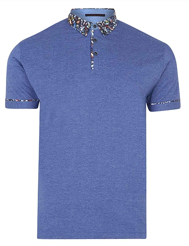 Lizard King Short Sleeve Polo With Woven Collar