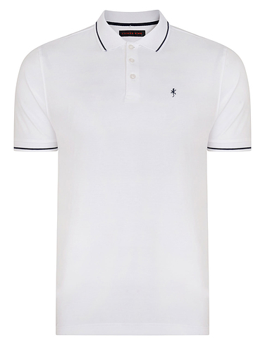 Signature Plain Pique Polo With Lizard Logo