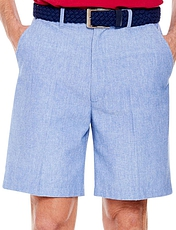 Chambray Short with Hidden Stretch Waist and belt.