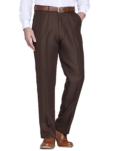 Pegasus Twill Trouser With Hidden Stretch Waist