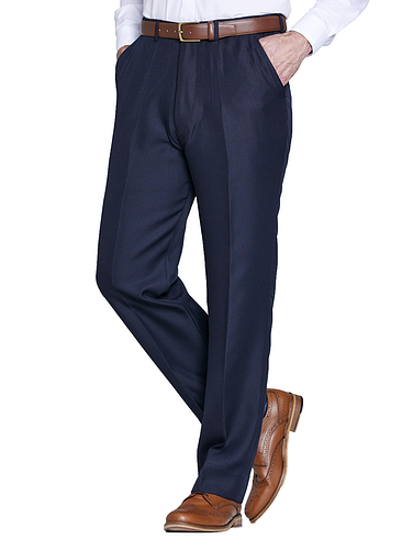 11478bacf2 Twill Trouser With Hidden Stretch Waist