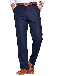 Twill Trouser With Hidden Stretch Waist