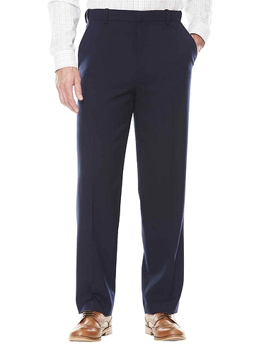 Wool Touch Formal Trousers With Hidden Stretch