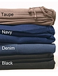 TAUPE<br>NAVY<br>DENIM<br>BLACK