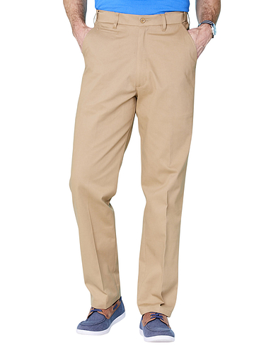 Travel Chino With Stretch Fabric And Adjustable Waist.