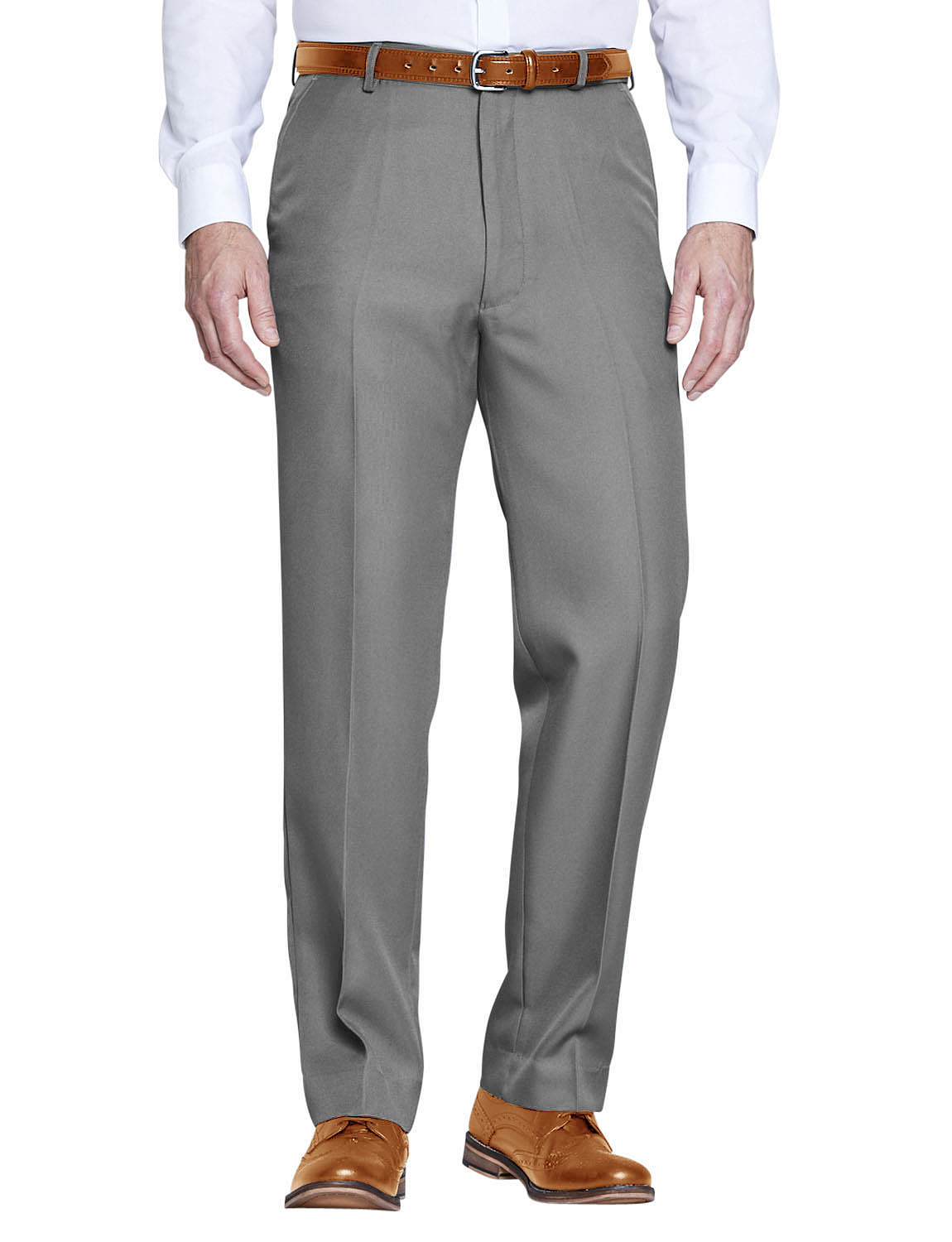 Chums Mens HIGH-Rise Poly Twill Trouser Pants with Stretch Waist