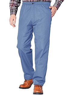 Fleece Lined Drawcord Trouser - Airforce