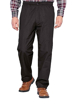 Fleece Lined Drawcord Trouser - Black