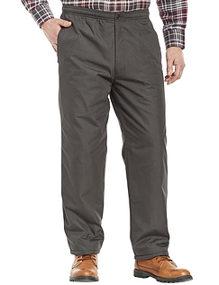 Fleece Lined Leisure Trousers With Elasticated Waist