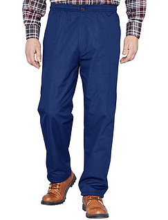 Fleece Lined Drawcord Trouser - Navy