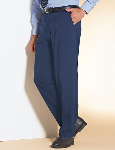 Regular Rise Trousers with Hidden Extra Waistband