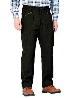 Fully Fleece Lined Action Trouser - Black