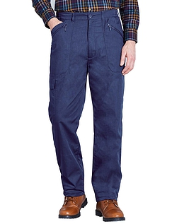 Fully Fleece Lined Action Trouser - Navy