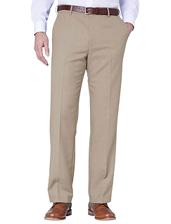 Farah Stretch Waistband Trouser - Biscuit