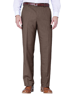 Farah Stretch Waistband Trouser - Taupe