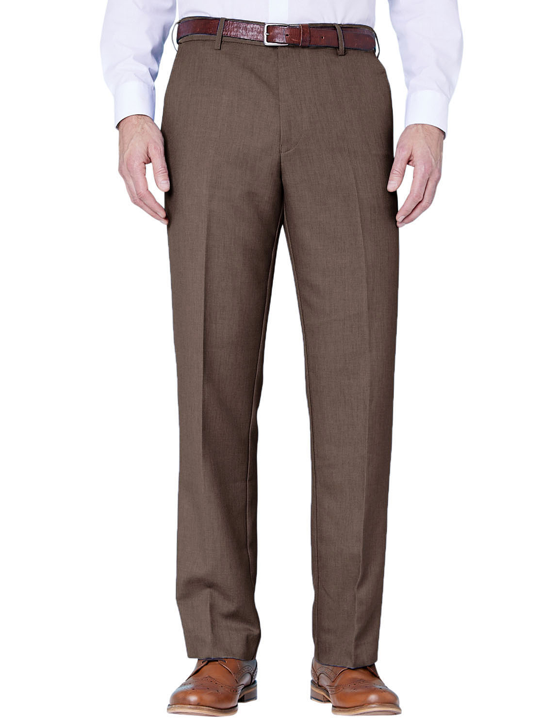 Farah Flex Trouser With Self Adjusting Waistband Menswear Trousers