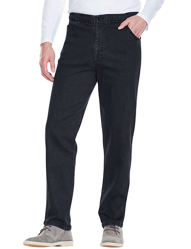 Elastic Waist Demin Jean In Stretch