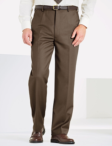 Regular Rise Cavalry Twill Trousers