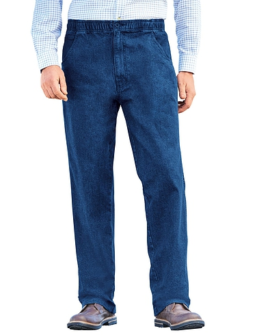 Stretch Denim Drawcord Trousers