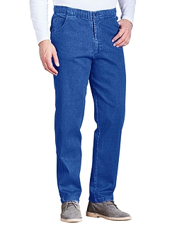 Stretch Denim Drawcord Trouser - Blue