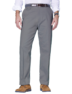 Cotton Chino Trouser - Charcoal