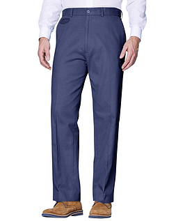 Cotton Chino Trouser - Navy