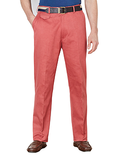 Pegasus Cotton Chino With Stretch Waistband - Red