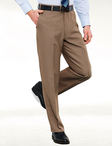 Puppytooth Check Design Trouser