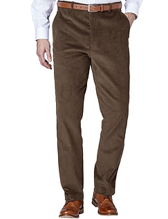 Regular Rise Corduroy Trousers