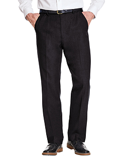 Poly Viscose Skopes Trouser With Stretch Waist & Teflon Coating - Black