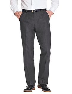 Poly Viscose Skopes Trouser With Stretch Waist & Teflon Coating - Charcoal