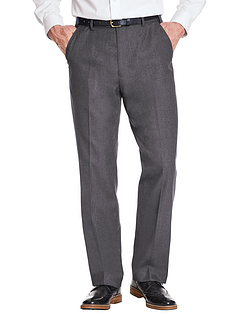 Poly Viscose Skopes Trouser With Stretch Waist & Teflon Coating - Grey